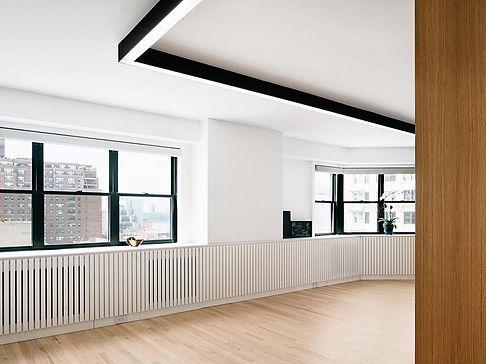 West Village Apartment modern window casework