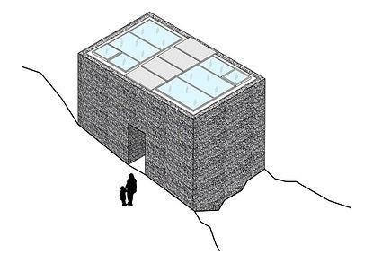 Guest Shelter modern exterior diagram