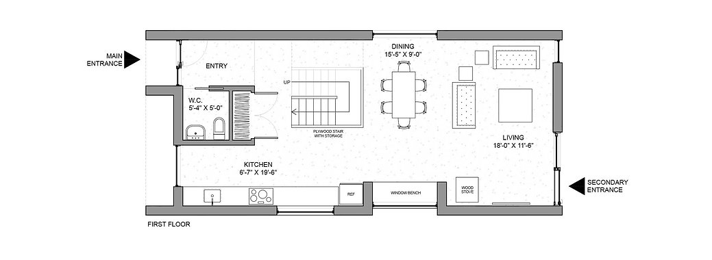 Pewter House first floor plan