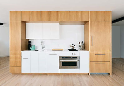 West Village Apartment modern kitchenk