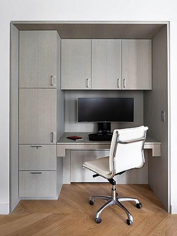 Battery Park Apartment modern office niche