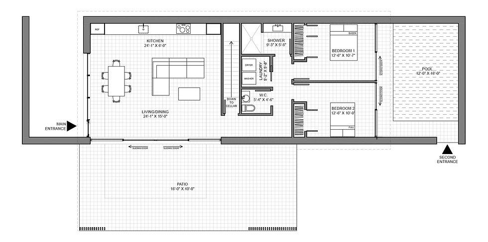 Ochre House floor plan