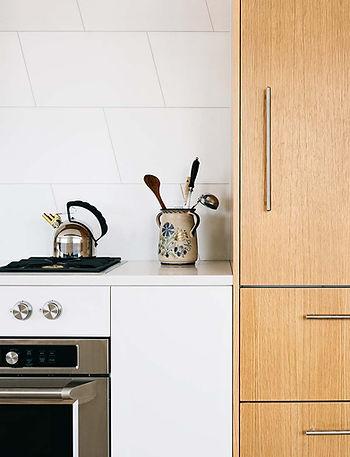 West Village Apartment modern kitchen detail