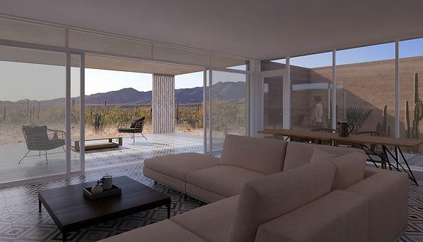 Ochre House interior living room