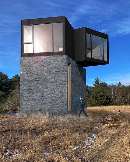 Catskills Guest House modern exterior side