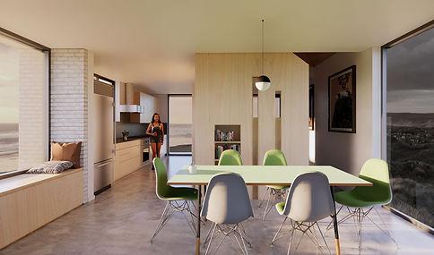 Pewter House interior towards kitchen