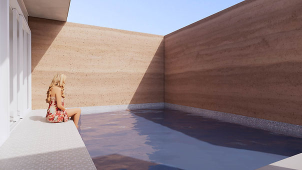 Ochre House private plunge pool