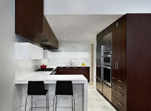 Manhattan Triplex modern kitchen