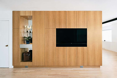 West Village Apartment modern living room storage