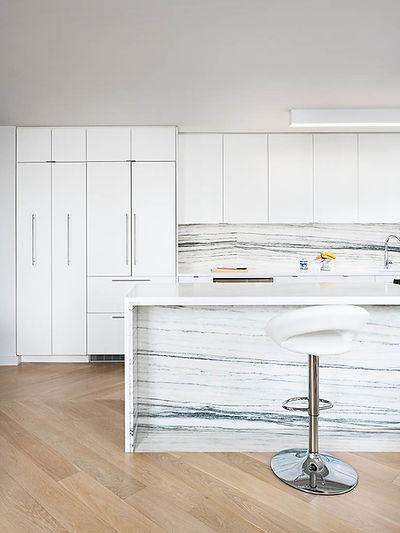 Battery Park Apartment modern kitchen