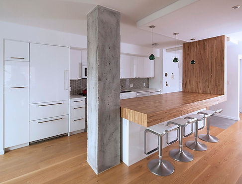 Central Park West Apartment modern kitchen island