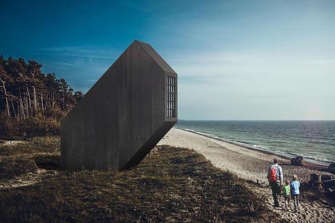 Latvian Cabin modern hiking shelter