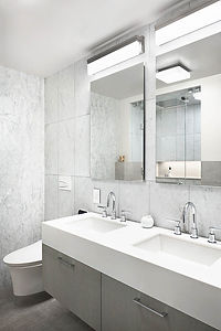 Battery Park Apartment modern bathroom