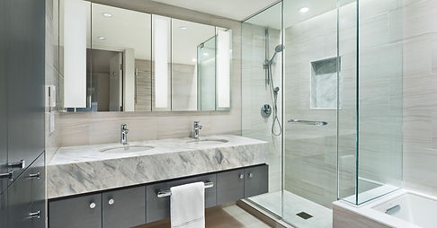 Manhattan Triplex modern bathroom