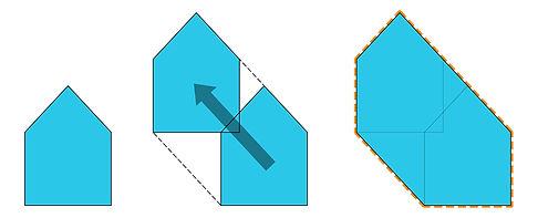 Latvian Cabin modern hiking shelter diagram