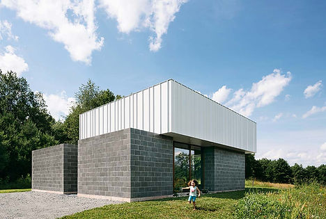 Catskills house modern exterior house front