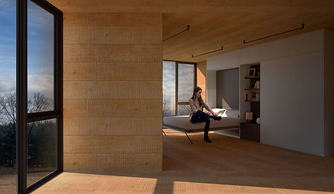 Catskills Guest House modern interior bedroom
