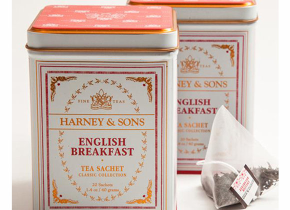HARNEY & SONS English Breakfast Black Tea Sachets