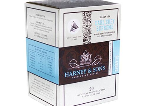 HARNEY & SONS Flavoured Black Earl Grey Supreme Sachets