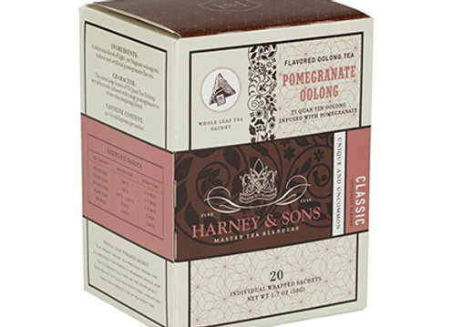 HARNEY & SONS Flavored Oolong Pomegranate Oolong Sachets