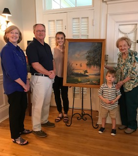 Hagins Family with Artwork