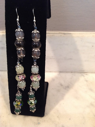 Three-Beaded Earrings
