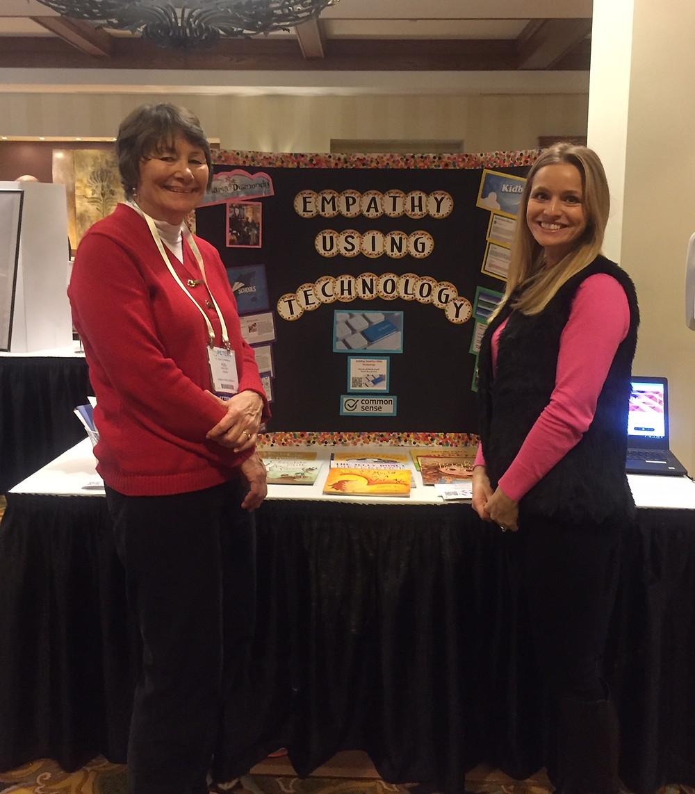 Waldron Mercy Academy teachers Kitty Ferry and Michelle Orapallo present at PETE&C.