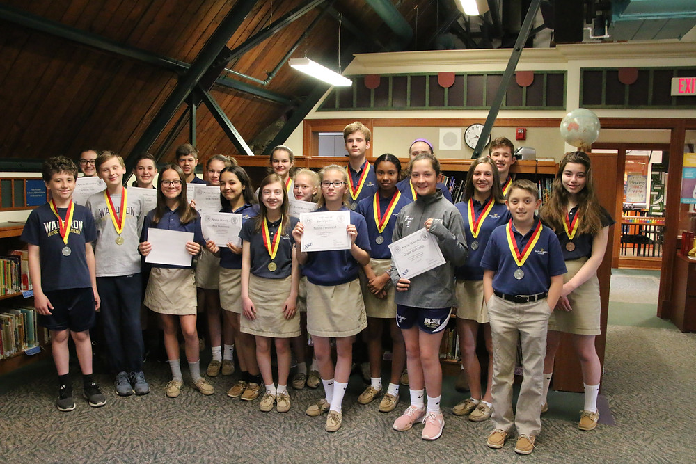Waldron Mercy Academy students scored well on National Spanish Exam.