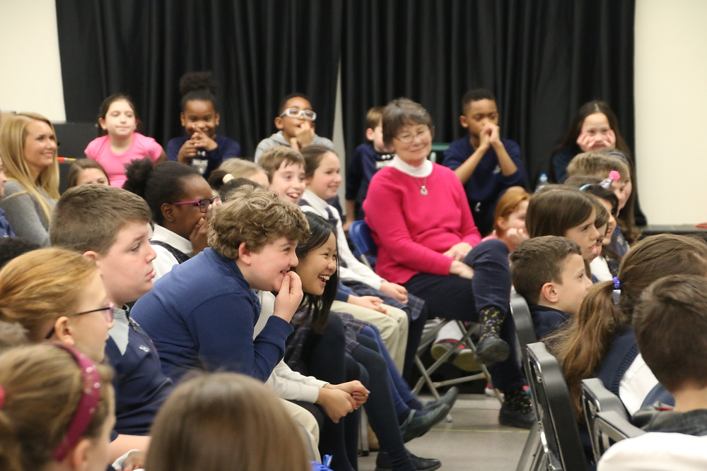 Waldron Mercy Academy students enjoy visit from author.