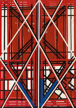 יצחק גרינפילד שמות,                  קולאז' על עץ,           50 X 35 cm, 2011