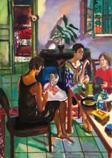 natan_is_having_supper_150x_200cm_oil_ca
