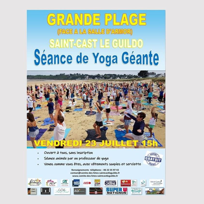 Séance de yoga géante