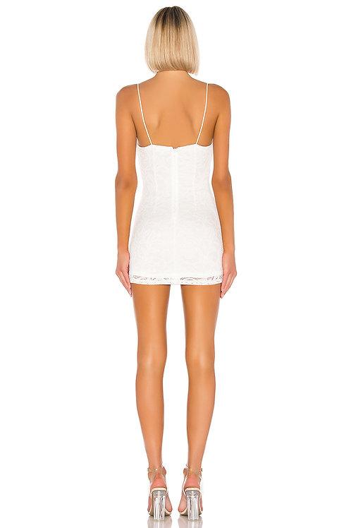 Classy Miminal White Dress
