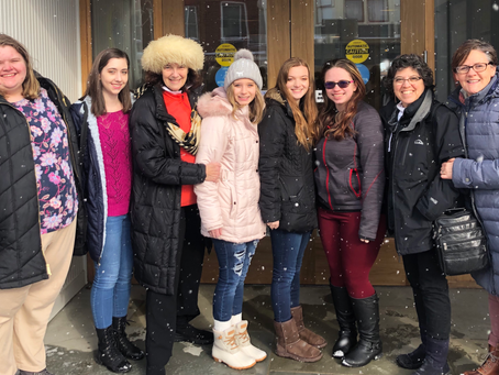 Road to suffrage class goes to New York