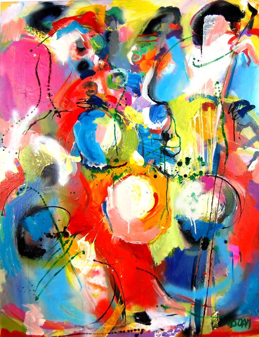 7. 'Brass band' 89x116cm 2019