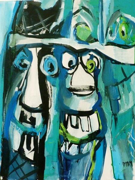 6-  Turning blue - 61x50cm - 2014