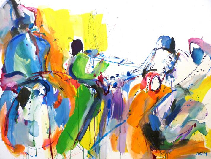 1. 'Jazz Band' 89x116cm 2019