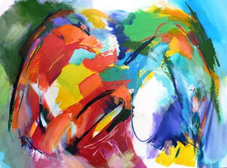 1. Au-delà de l'expression musicale - 116x89cm - 2012
