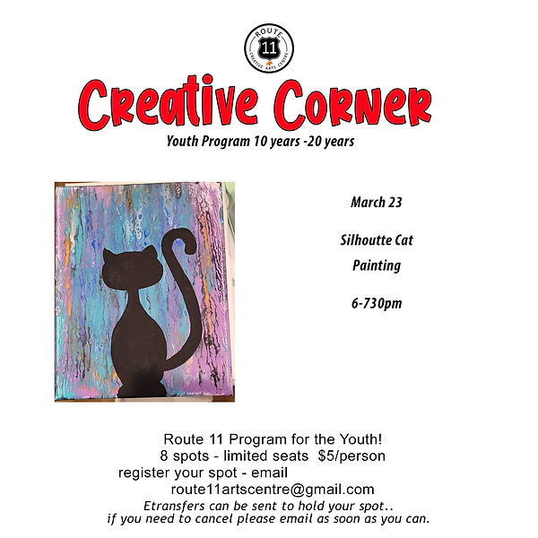 9 silhoutte cat painting  sandy march 23