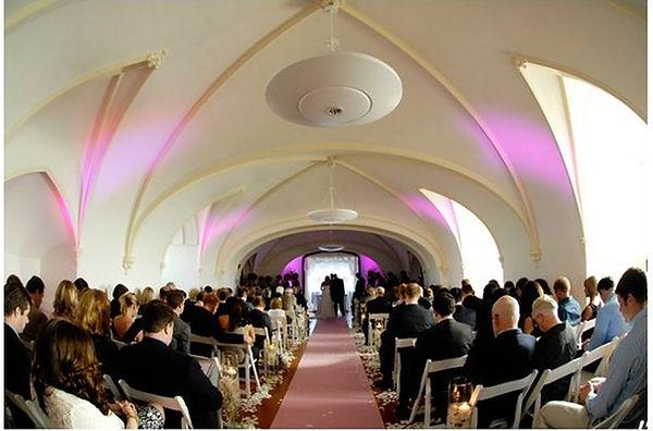 Up lights Laurel Hall Ceremony.jpg