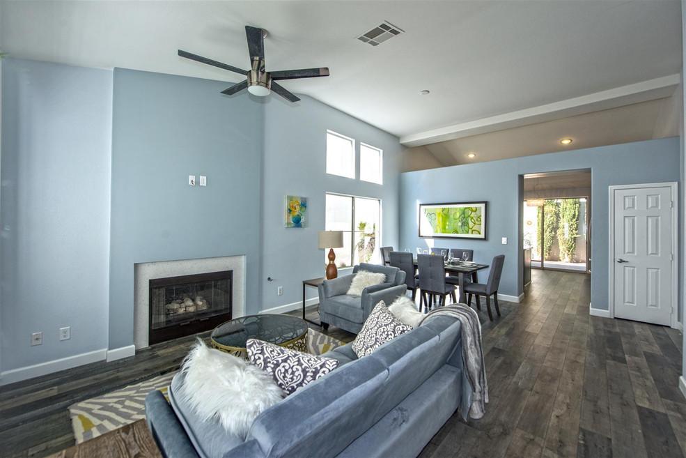staged living room remodel