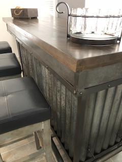 rustic bar detail
