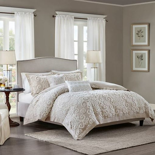 3 Piece Cotton Comforter Set - #004