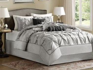 7 Piece Pintucked Comforter Set - #008