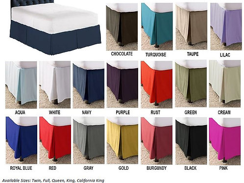 Solid Colored Bed Skirt -#020