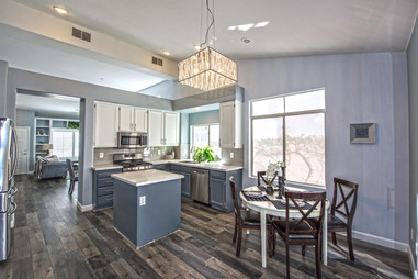 staged kitchen remodel