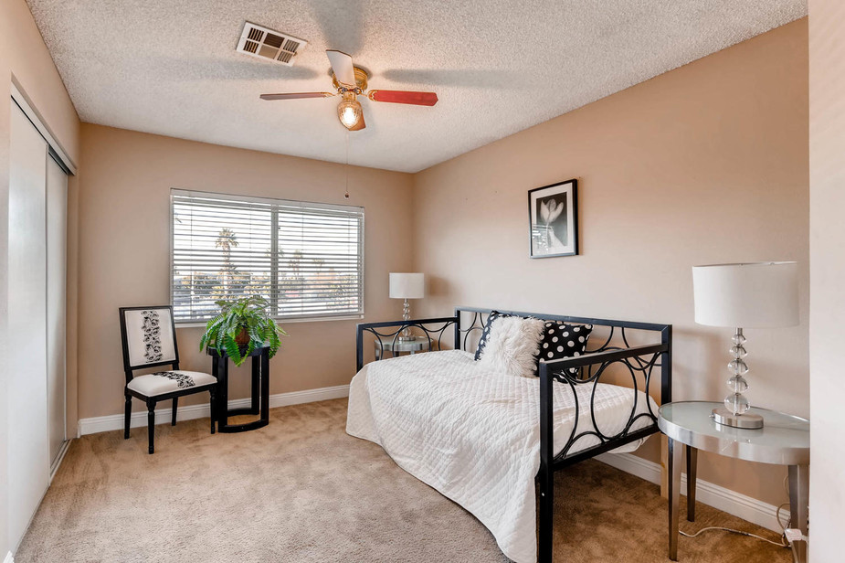 staged guest room