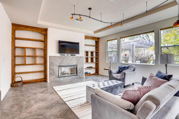 staged family room remodel