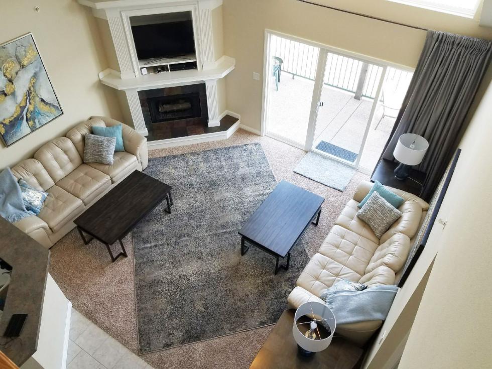 vacation rental living room design