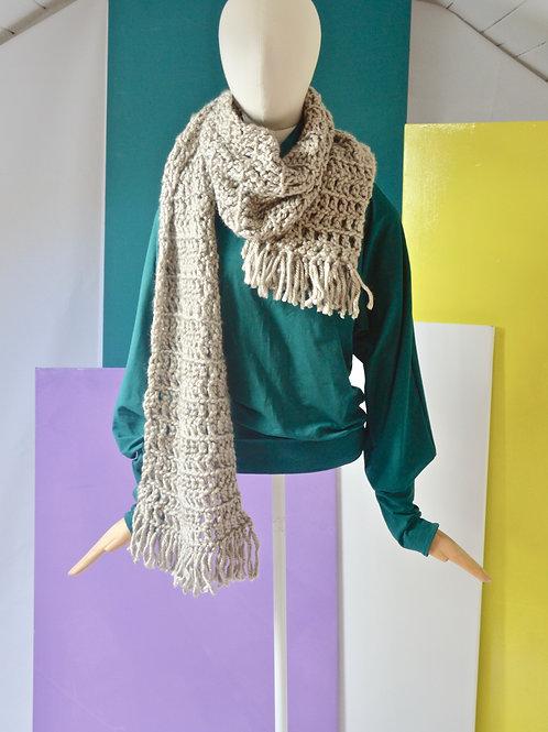 Hand crochet scarf